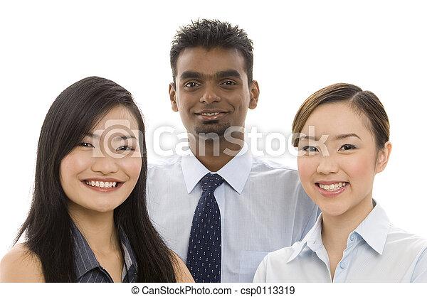 2, jonge, handel team - csp0113319