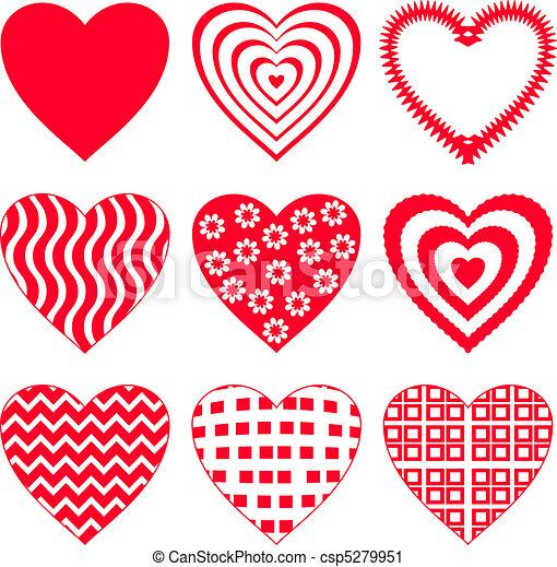 2, komplet, serce, valentine - csp5279951