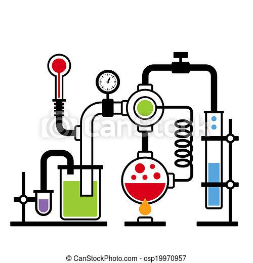 2, laboratoire, infographic, ensemble, chimie - csp19970957