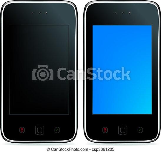 2 Mobile Phones - csp3861285