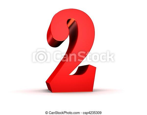 Globo Numero 2 rojo