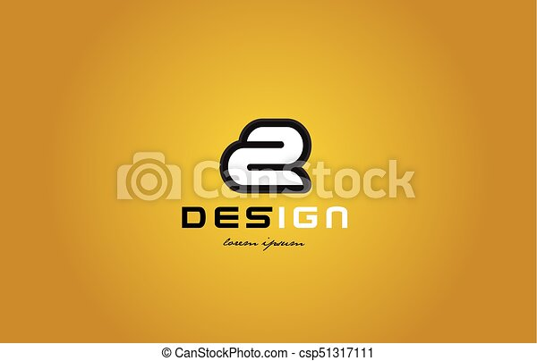 2 number numeral digit white on yellow background - csp51317111