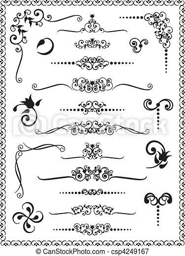 2, ontwerp, versieringen - csp4249167