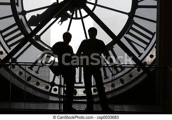 2 silhouettes - csp0033683