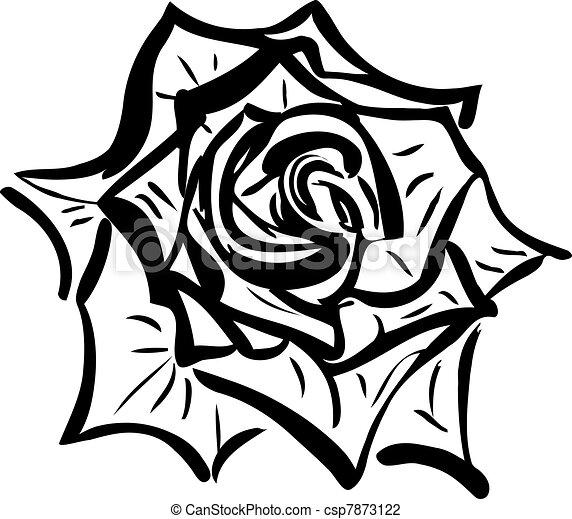 2 Soda sketch of a flower resembling a rose(1).jpg - csp7873122