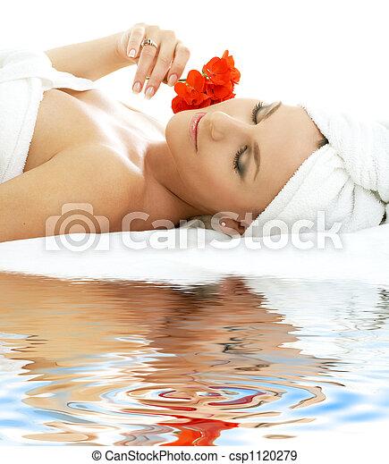 #2, spa, areia, branca, relaxamento - csp1120279
