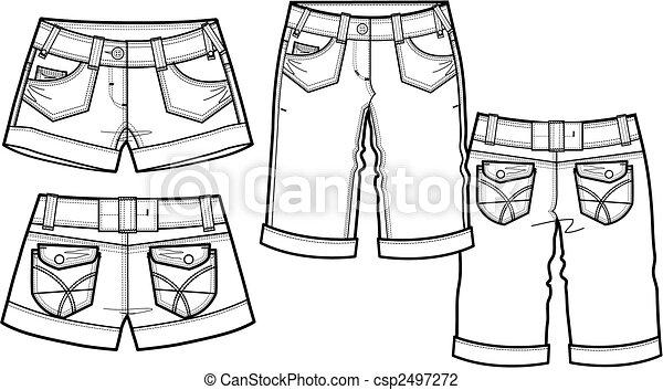 2, style, mode, dame, short - csp2497272