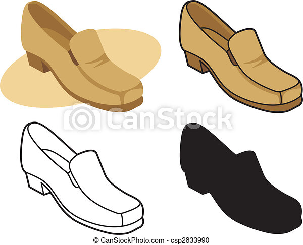 2, vecteur, mâle, chaussure - csp2833990