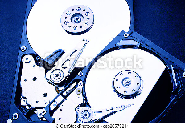 """2 x HDD - Hard Disk Drive is open - 2,5"""" and 3,5"""" - csp26573211"""