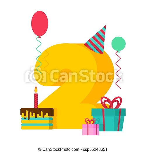 2 year happy birthday greeting card 2th anniversary clipart 2 year happy birthday greeting card 2th anniversary celebration template two number and festive bookmarktalkfo Images