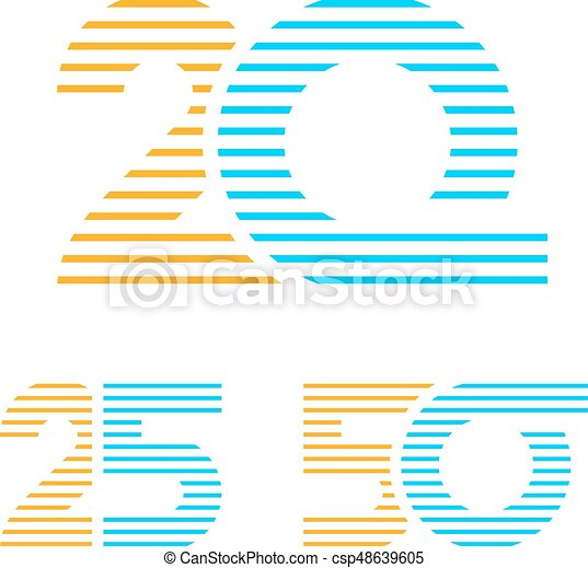 20 25 50 anniversary line number - csp48639605