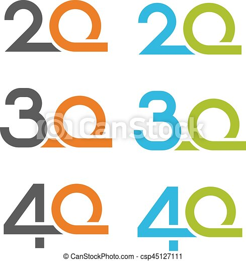20 30 40 anniversary number illustration for the web vector clip rh canstockphoto com