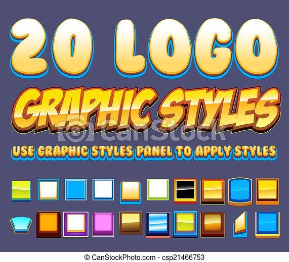 20 Comic Graphics Styles - csp21466753