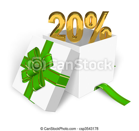 20% discount concept  - csp3543178