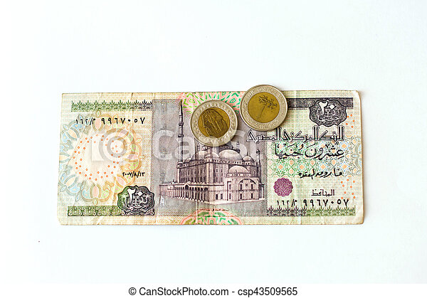 20 Egyptian Pounds Banknote Egp 20 Egyptian Pounds Old Banknote