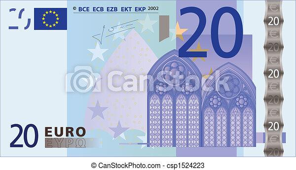 20 euros bank-note - csp1524223