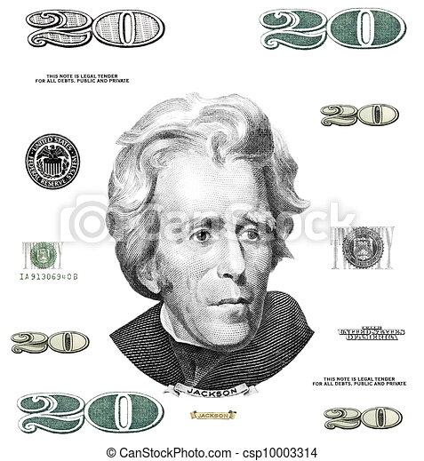 20, $, fotografia, halabarda, dolar, dwadzieścia, eleme - csp10003314