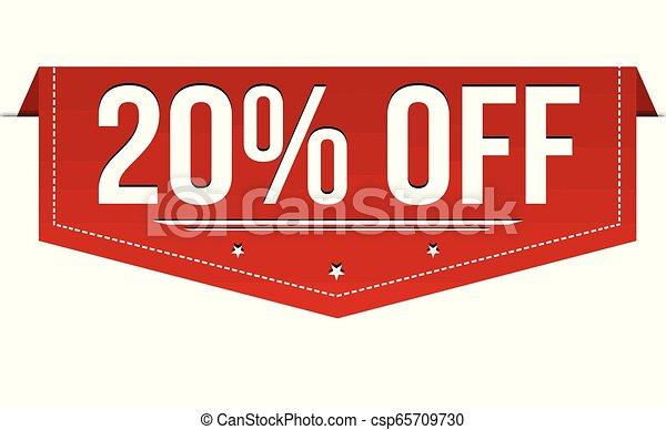 20% off banner design - csp65709730