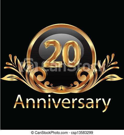 20 years anniversary birthday  - csp13583299
