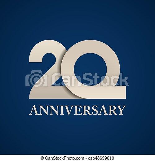 20 years anniversary paper number - csp48639610