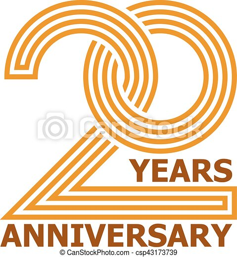 20 Years Anniversary Symbol Illustration For The Web