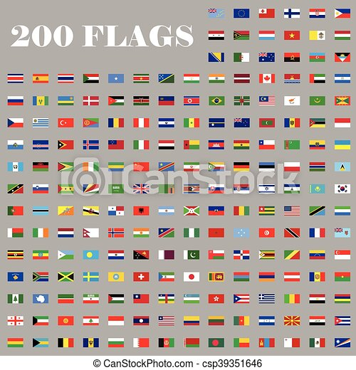 200 Flags set of the world - csp39351646