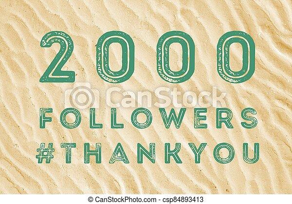 2000 followers - csp84893413