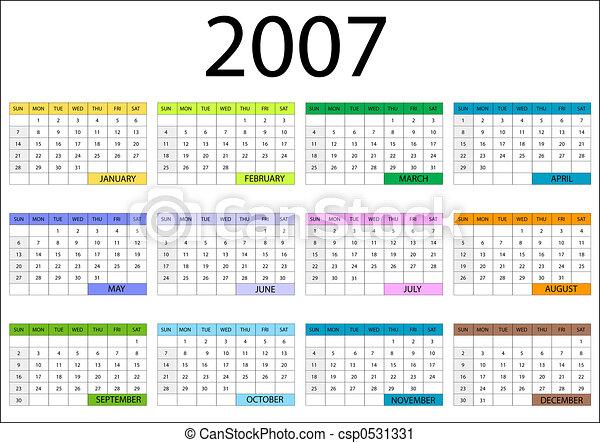 2007 decemberi naptár 2007 calendar design with months and date and weekdays. 2007 decemberi naptár