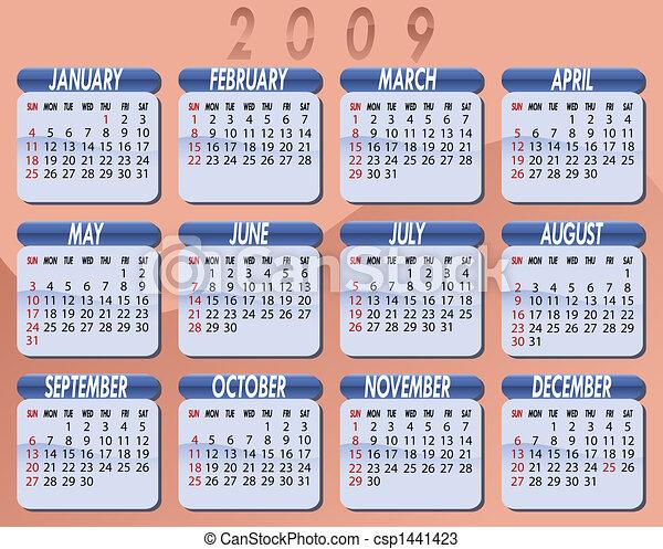 2009 as naptár 2009 calendar by willierossin. Calendar for the year 2009. peach  2009 as naptár