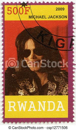 RWANDA - 2009 muestra a Michael Joseph Jackson (1958-2009) - csp12771506