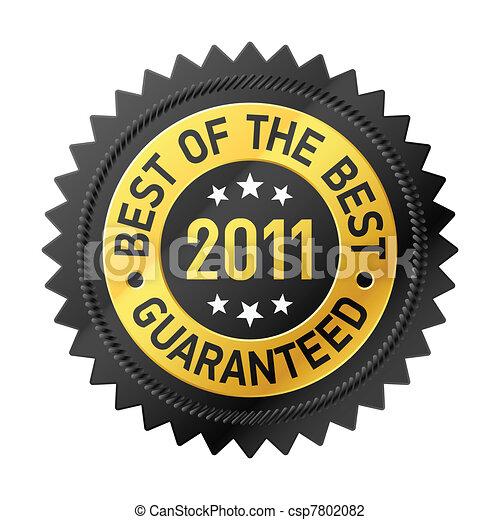 2011, bäst, etikett - csp7802082