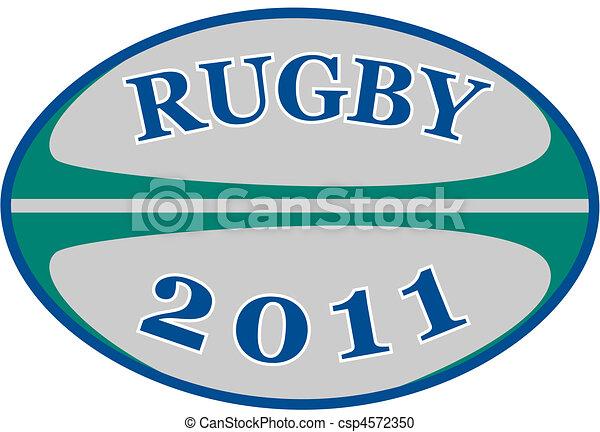 2011, balle, rugby, mots - csp4572350