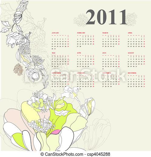 Calendario para 2011 - csp4045288
