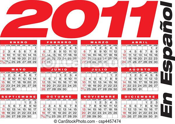 2011 Calendario.2011 Calendario Espanol