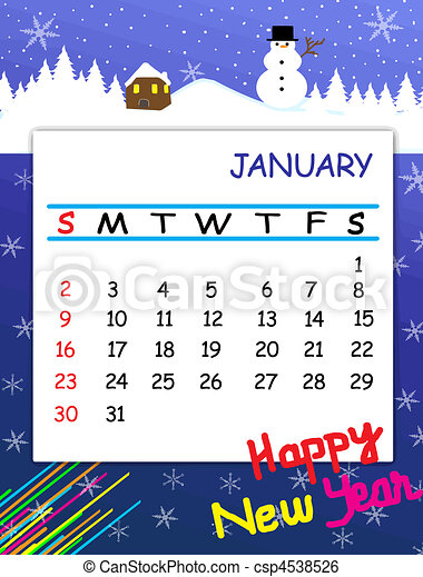 2011 january calendar with decorative frame vector clip art