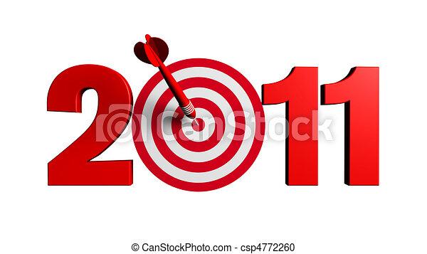 2011 New Year Target - csp4772260
