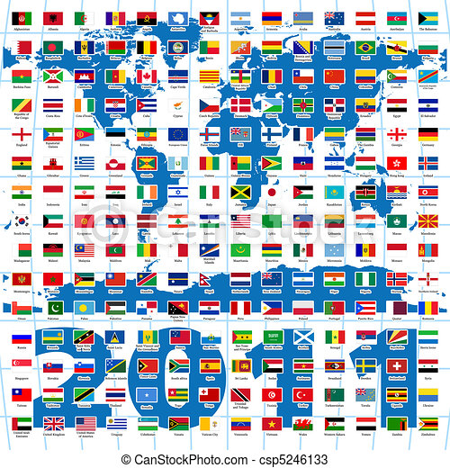 2011 Year. Complete set of Flags of the world - csp5246133
