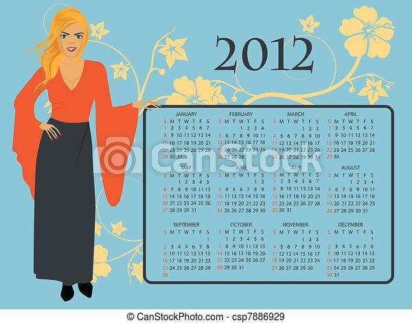 2012 Calendar - csp7886929