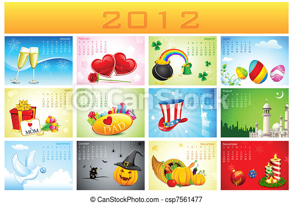 Calendar 2012 With Holidays