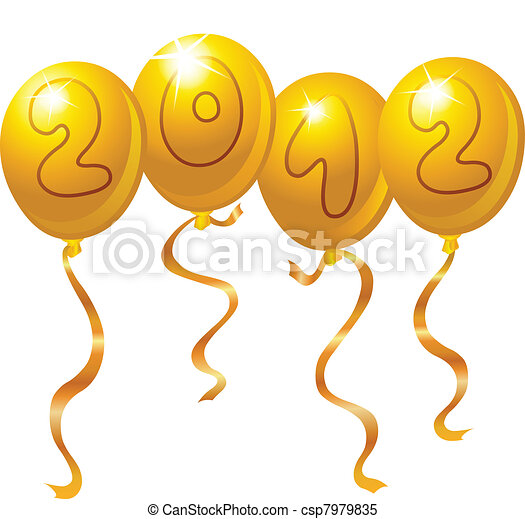 2012 new year balloons csp7979835