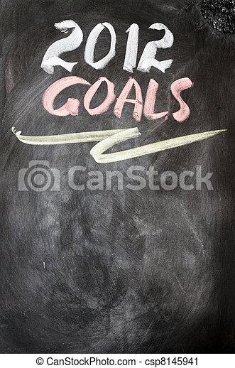 2012 New year goals - csp8145941