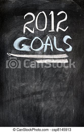 2012 New year goals - csp8145913