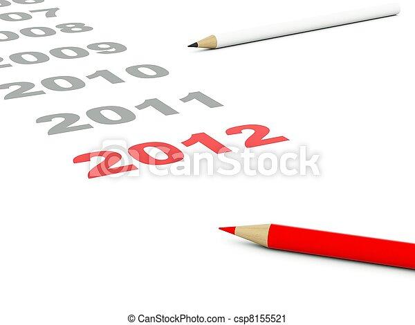 2012 New Year - csp8155521