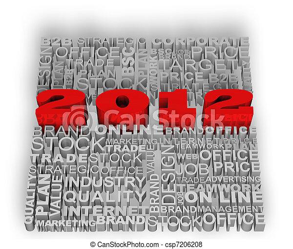 2012 new year - csp7206208