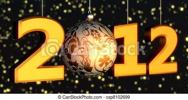 2012 New-year - csp8102699
