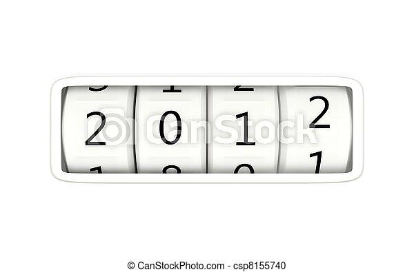 2012 New year - csp8155740