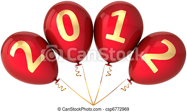 2012 party balloons New Year eve - csp6772969
