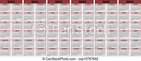 2013-2018 - csp10787642
