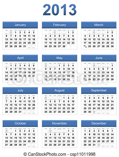 2013 calendar - csp11011998