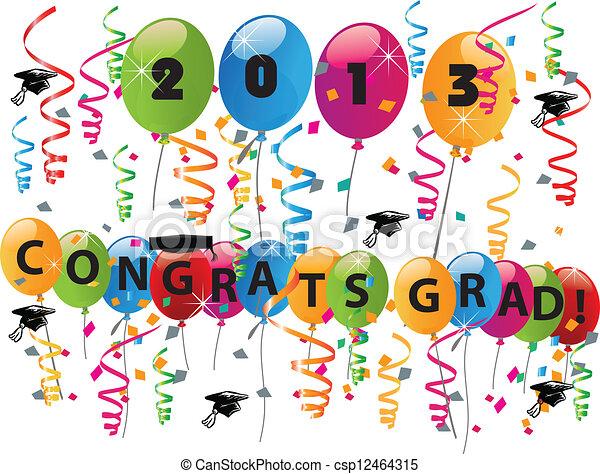 2013 Congrats grad celebration - csp12464315